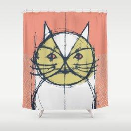 Cubist Cat Study #12 by Friztin Shower Curtain