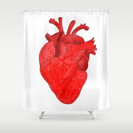 Passion red heart Shower Curtain