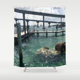 Dockin' at Sea Shower Curtain