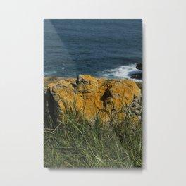 Yellow stone Metal Print