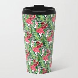Flamingos Pattern I Travel Mug