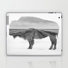 Bison and Prairie Road Blend BW Laptop & iPad Skin