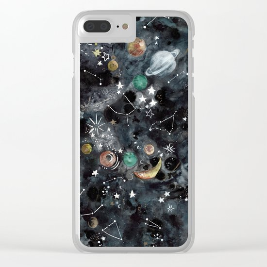 Cosmic Universe Clear iPhone Case