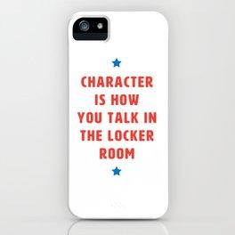 Locker Room Talk (Americana) iPhone Case