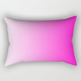 White and Pink Gradient 044 Rectangular Pillow
