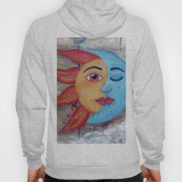 SOLUNA - Sun and Moon, mixed media art painting Hoody