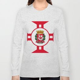 Flag of Sao Paolo -  Non ducor, duco Long Sleeve T-shirt