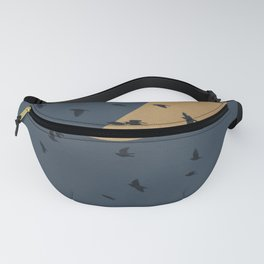 Moon and birds Fanny Pack