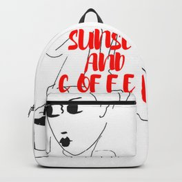 Sunset and Coffee Backpack
