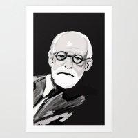 freud Art Prints featuring Freud  by BJD124