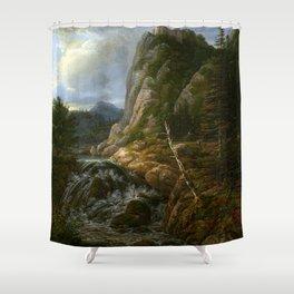 Johann Christian Clausen Dahl Nordic Landscape Shower Curtain