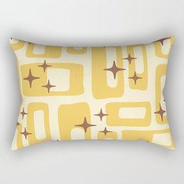 Retro Mid Century Modern Abstract Pattern 577 Yellow Brown Rectangular Pillow