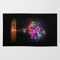 holographic Area & Throw Rugs featuring T-Wrecks by Joe Latimer
