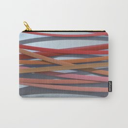 ribbon paper background red Carry-All Pouch