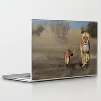 lions Laptop & iPad Skins featuring Lions by Elena Napoli