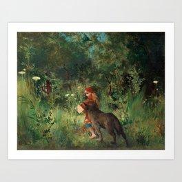 Little Red Riding Hood - Carl Larsson 1881 Art Print