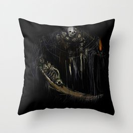 Gravelord Nito - Dark Souls (black tee PNG edition) Throw Pillow