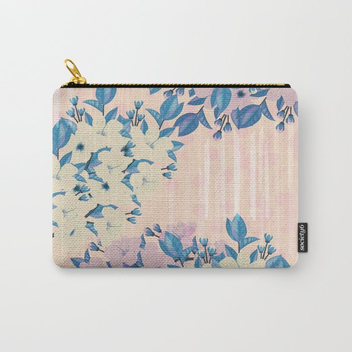 Pink Floral Carry-All Pouch