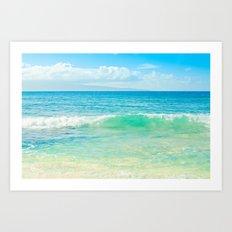 Ocean Blue Beach Dreams Art Print