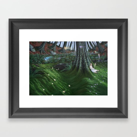 in the meadow Framed Art Print