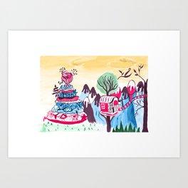 Cake mountain Art Print