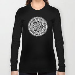 Yin Yang Mandala Pattern Long Sleeve T-shirt