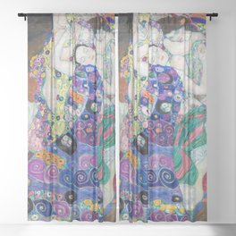 Gustav Klimt - The Virgin Sheer Curtain