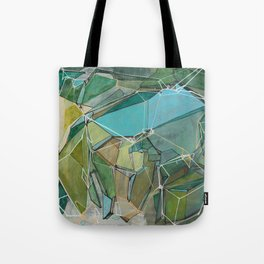 Fracturing Emeralds Tote Bag