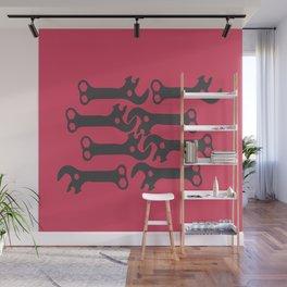 key! fuschia Wall Mural