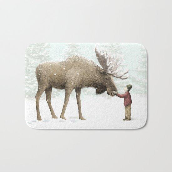 Winter Moose Bath Mat