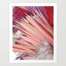 Peachy pleat extravaganza Art Print