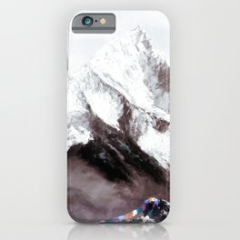 Panoramic View Of Everest Mountain Painting iPhone Case
