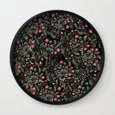 Floral Patern Wall Clock