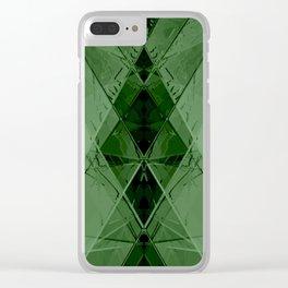 Geometric emerald stone crystal digital illustration Clear iPhone Case