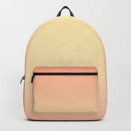 Gentle coral, light yellow gradient. Ombre. Backpack