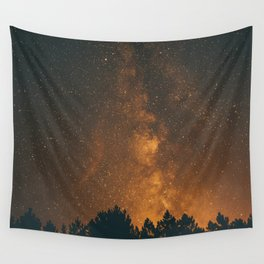 The Milky Way (Forest Landscape Photography, Starry Night Sky Photo) Wall Tapestry