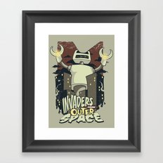 Invaders from outer space Framed Art Print