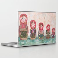 emma stone Laptop & iPad Skins featuring Emma by GiGi Garcia Collages