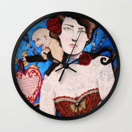 Augusta -- The Tattooed Lady Wall Clock