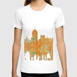 Fresno, California Skyline - Rust T-shirt