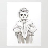Fashion Sketch #01 Art Print
