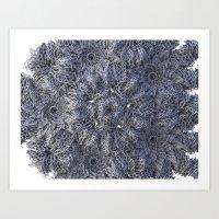 fractal chaos Art Print