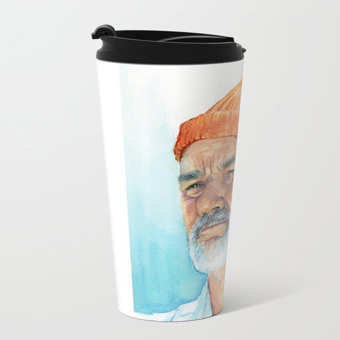 Bill Murray as Steve Zissou Portrait Art Metal Travel Mug