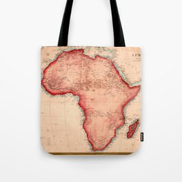 Map Of Africa 1844 Tote Bag