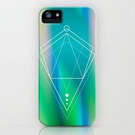 Hologram geometry iPhone Case