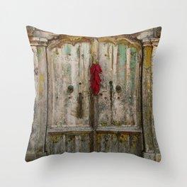 Old Ristra Door Throw Pillow