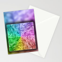 Petrified Wood in vibrant colors Stationery Cards