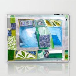 Blue-Green Quilt Laptop & iPad Skin