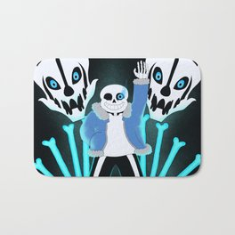 Sans the Skeleton Bath Mat
