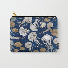 Jellyfish Underwater  Pattern Carry-All Pouch